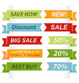 sale ribbons vector image