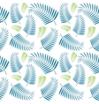 Seamless palm tree leaves pattern vector image vector image