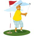 Senior golfer vector image vector image