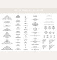 set decorative elements vector image vector image