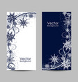 set vertical banners with winter pattern vector image vector image