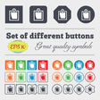 sheet of paper icon sign Big set of colorful vector image