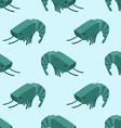Shrimp isometric seamless pattern Marine plankton vector image vector image
