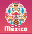 square composition with mexican fiesta elements vector image vector image