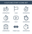 start icons vector image vector image