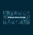 steam education concept blue linear vector image