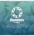 Summer design float icon polygon vector image vector image
