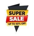 Super sale banner big sale poster design vector image vector image