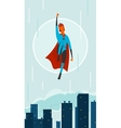 Superhero in city vector image vector image