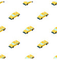 taxi car icon in cartoon style isolated on white vector image