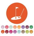 The golf icon Sport symbol Flat vector image vector image