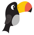 toco toucan on white background vector image