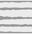 torn paper stripes with shadow placed on gray vector image