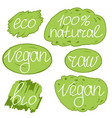 vegan day colorfull set vector image vector image