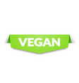 vegan label and tag banner corner icon element vector image vector image