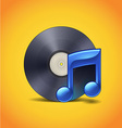 Vinyl And Note vector image