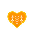 wheat agriculture logo vector image vector image