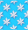 white paper cut snowflakes seamless pattern vector image