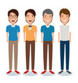 young men avatar character vector image