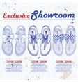 showroom set vector image