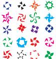 Logo element set Circular abstract elements vector image