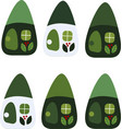 drawing of a cartoon cute toy fairy house vector image