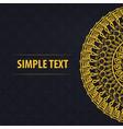 mandala pattern on a black background vector image