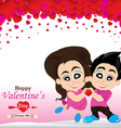 Valentines Day and lovers isolated on white vector image