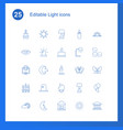 25 light icons vector image vector image