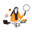 a research businessman vector image