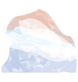 abstract flag sketch of netherlands vector image