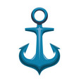 anchor nautical object vector image vector image