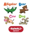 Animals alphabet or ABC vector image vector image
