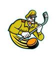 army general ice hockey sports mascot vector image vector image