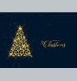 beautiful decorative christmas golden tree vector image vector image