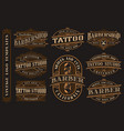 big bundle of vintage logo templates for the vector image vector image