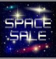 blue banner for space sale vector image