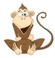 cartoon character monkey vector image vector image