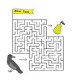 cartoon crow maze game vector image