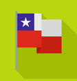 chile flag icon flat style vector image vector image