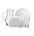 clean tableware realistic design concept vector image