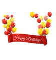 color glossy balloons birthday background vector image vector image