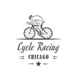 cycle racing logotype vector image