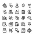 data management line icons collection vector image vector image