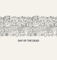 day of the dead banner concept vector image vector image