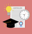 education certificate start teaching vector image vector image