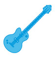 electric guitar music instrument vector image