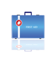 first aid in blue bag vector image