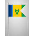 Flag Saint Vincent and the Grenadines on Flagpole vector image
