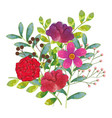 floral water color decoration vector image